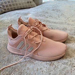 Baby Pink Adidas w/ Swarovski crystals - Size 5